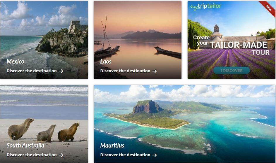 Κολάζ με φωτογραφίες από ταξιδιωτικούς προορισμούς όπως το Μεξικό και η Νότια Αυστραλία