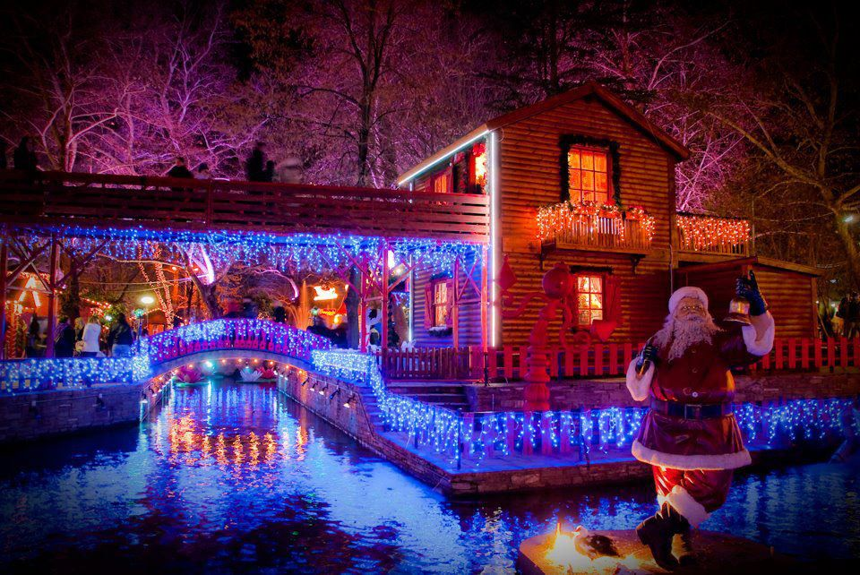 Χριστουγεννιάτικος στολισμός στην Ονειρούπολη Δράμας