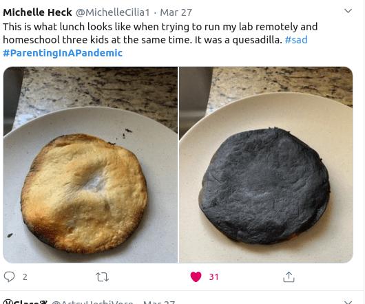 Ένα κανονικό και ένα καμένο μπισκότο
