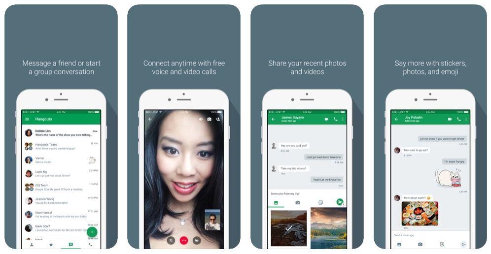 απεικόνιση του Google Hangouts στο κινητό