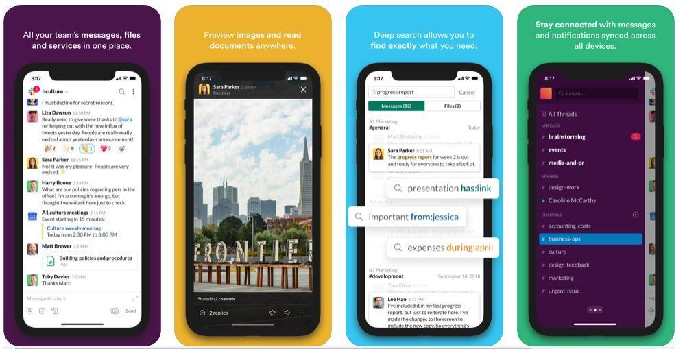 απεικόνιση του Slack στο κινητό