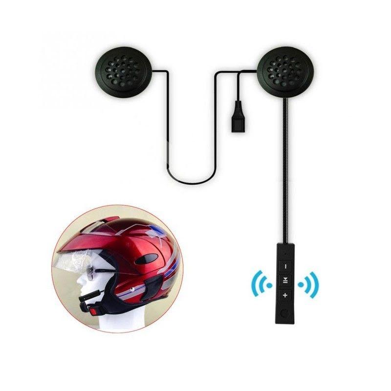 κόκκινο κράνος και σε μεγέθυνση σύστημα Bluetooth