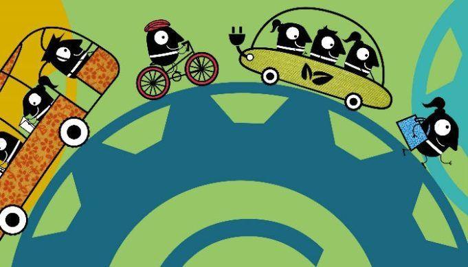 Πολύχρωμη εικόνα για την ευρωπαϊκή εβδομάδα κινητικότητας 2020