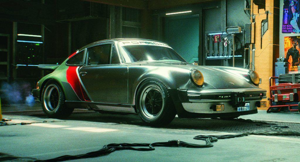 Παρκαρισμένα σε γκαράζ του Cyberpunk η Porsche 911 Turbo (930)