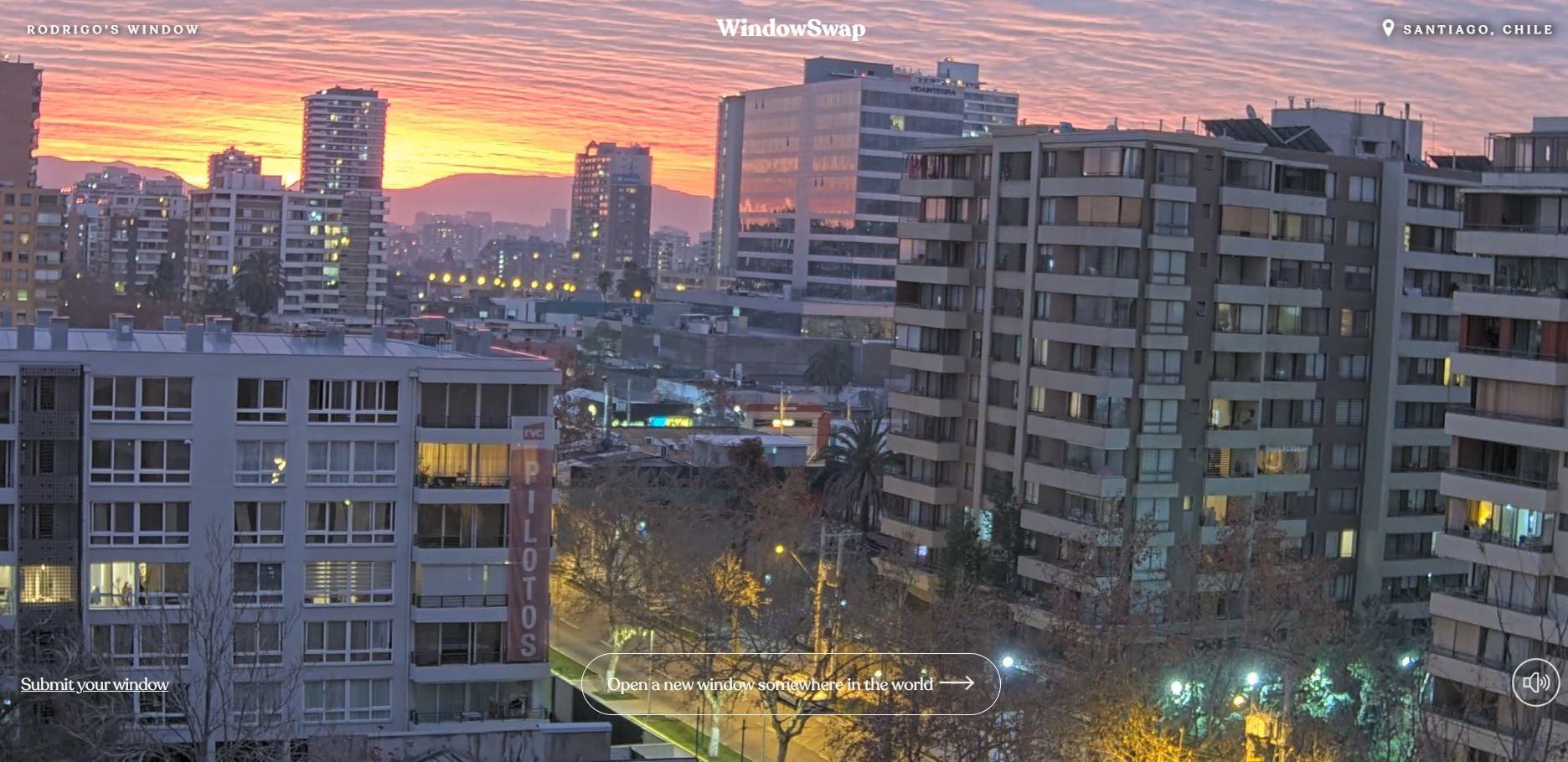 Φωτογραφία από την εφαρμογή Window Swap που δείχνει το Σνατιάγο
