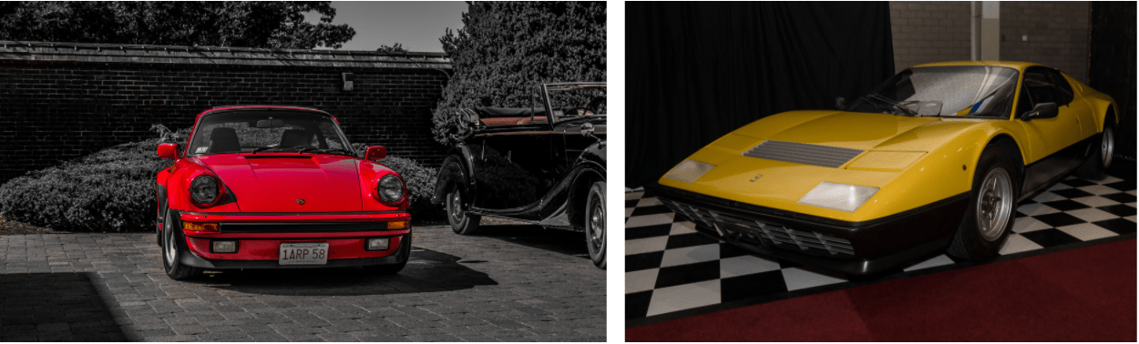 Κόκκινη Ferrari και κίτρινη Porsche από το video για το We'll Be Coming Back