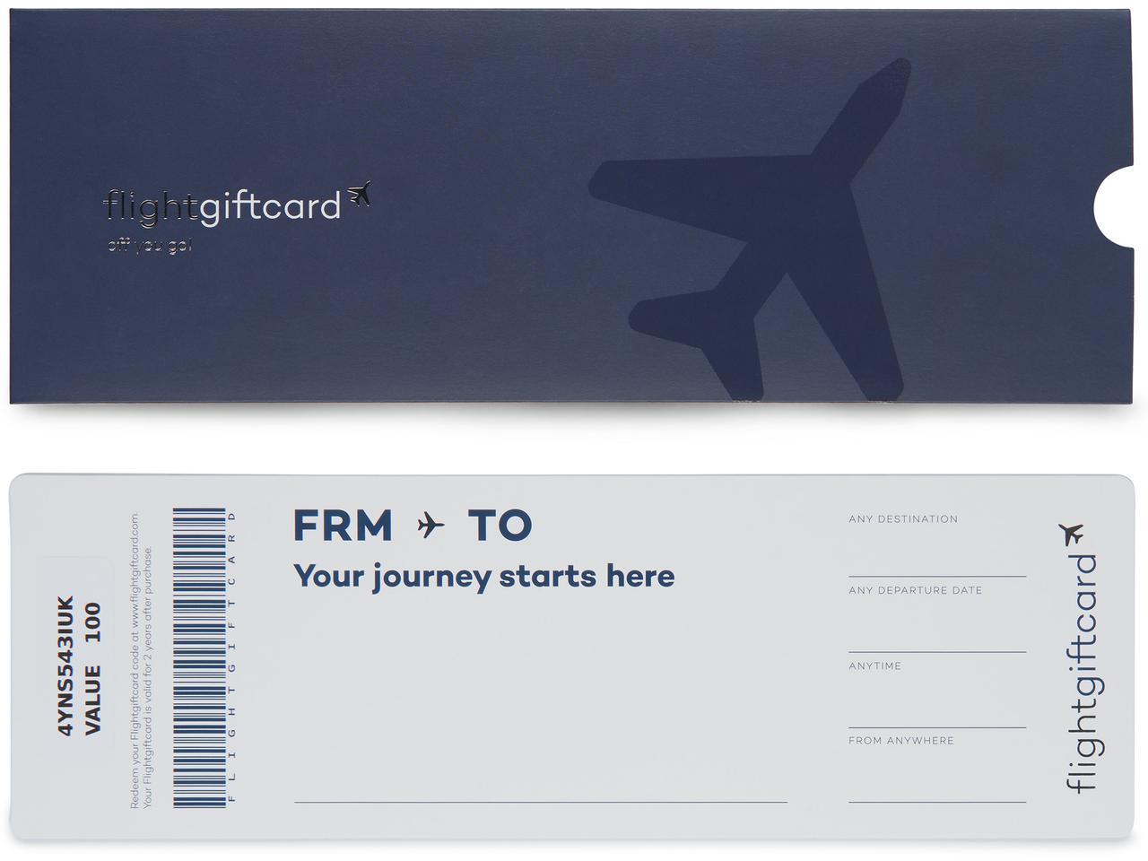 Αεροπορικό εισητήριο και δωροκάρτα