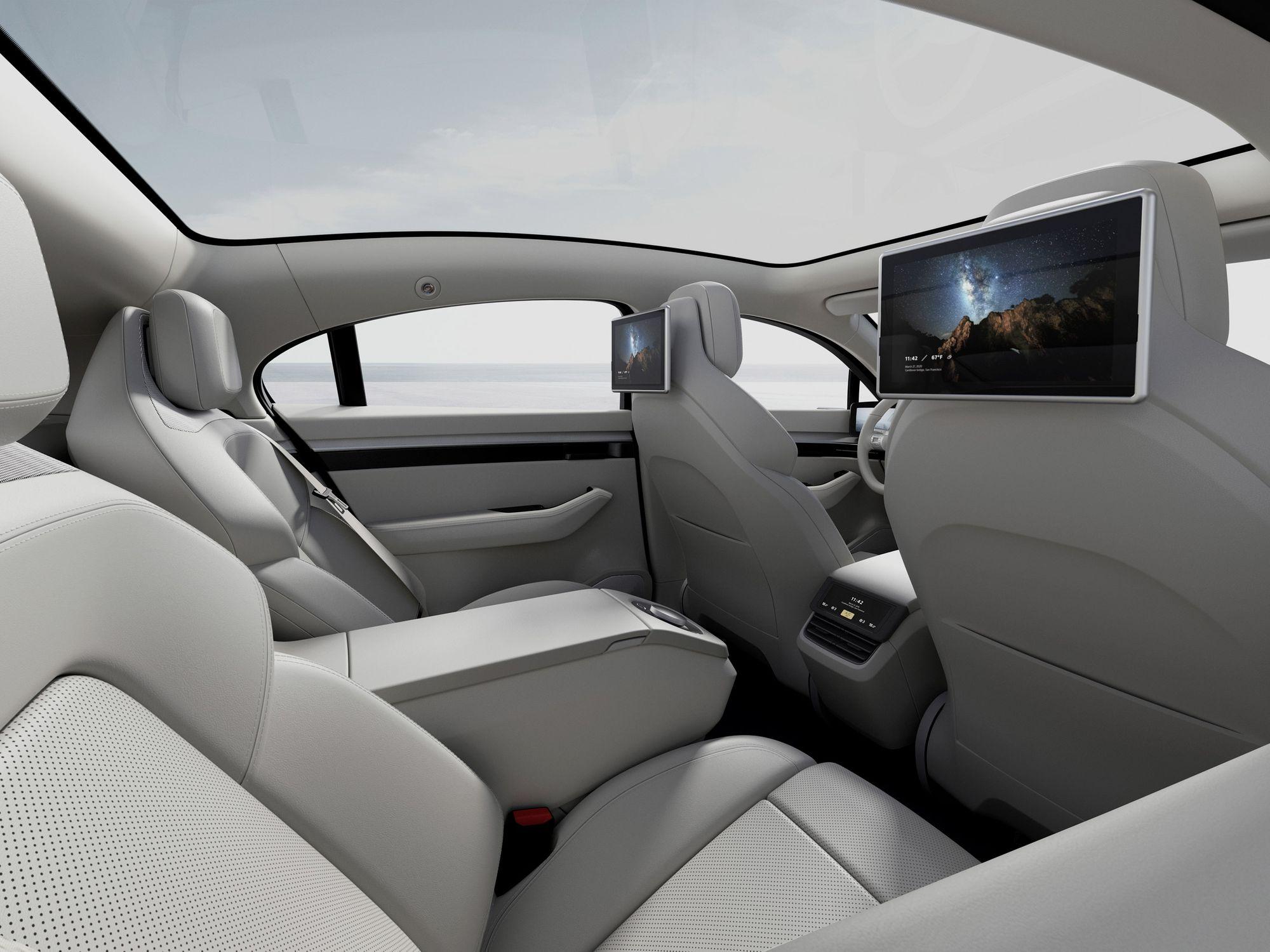 Εσωτερικό του Vision S-electric sedan