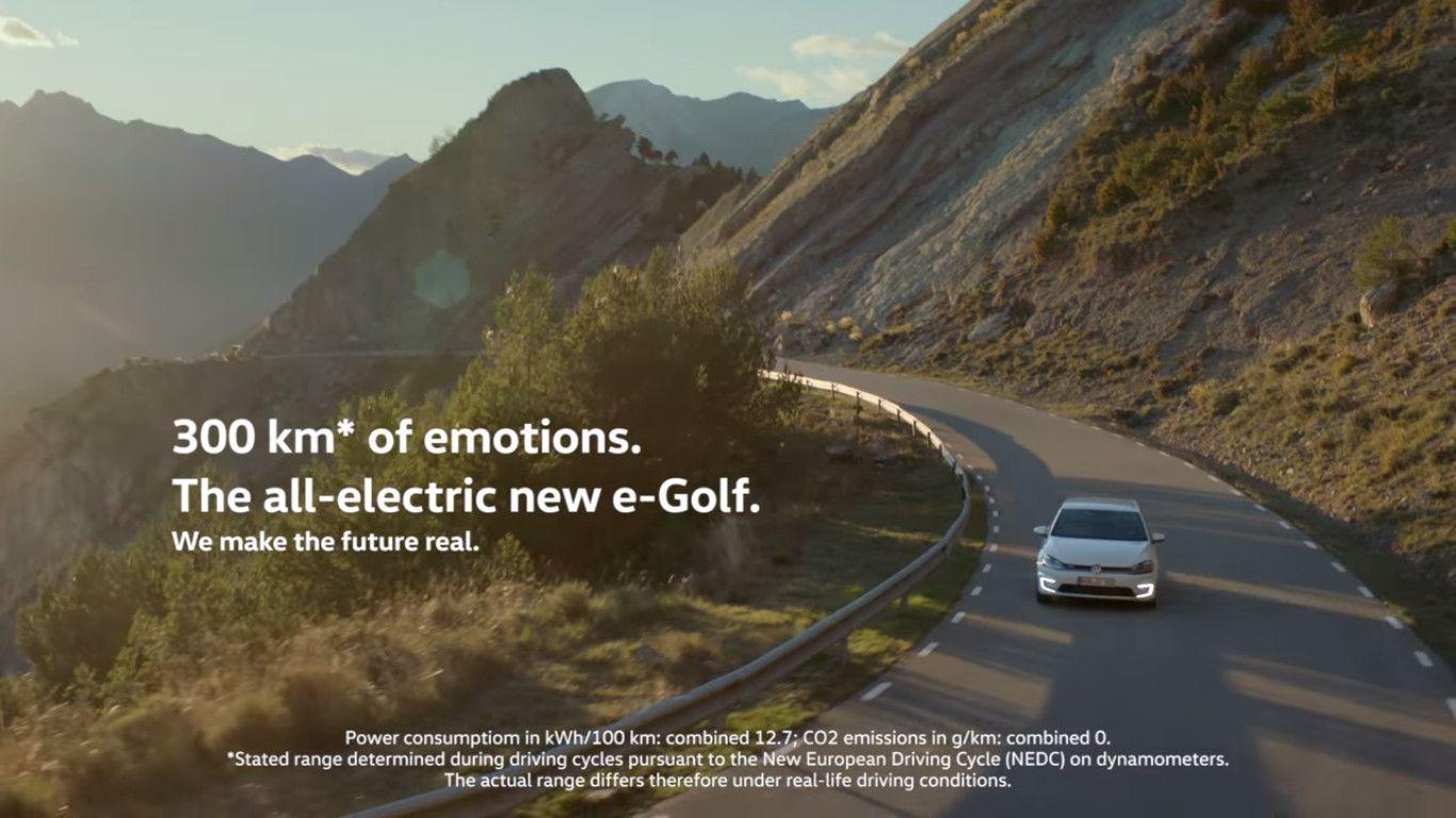 Στιγμιότυπο από διαφήμιση της Volkswagen