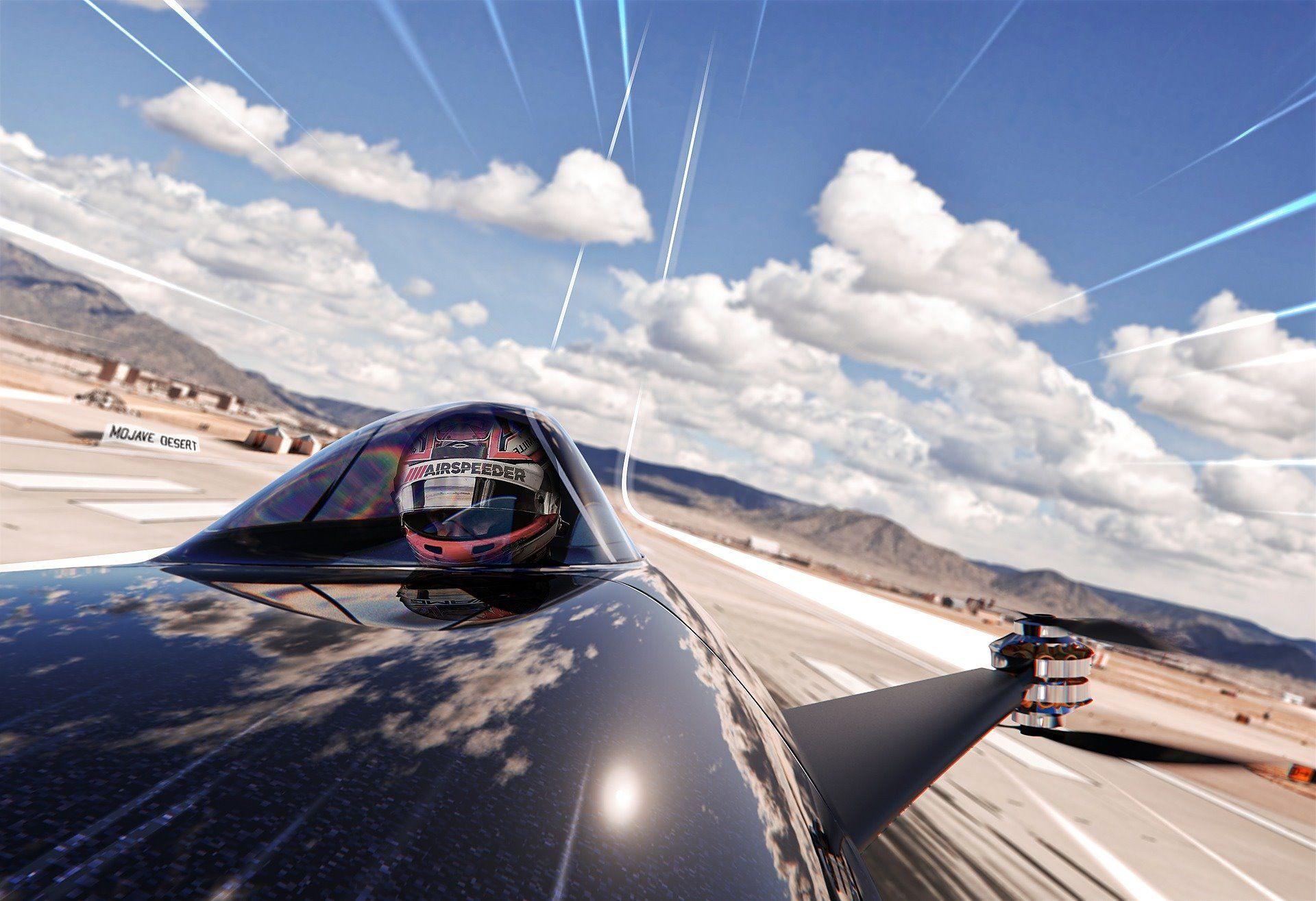 Οδηγός μέσα στο ηλεκτρικό Airspeeder