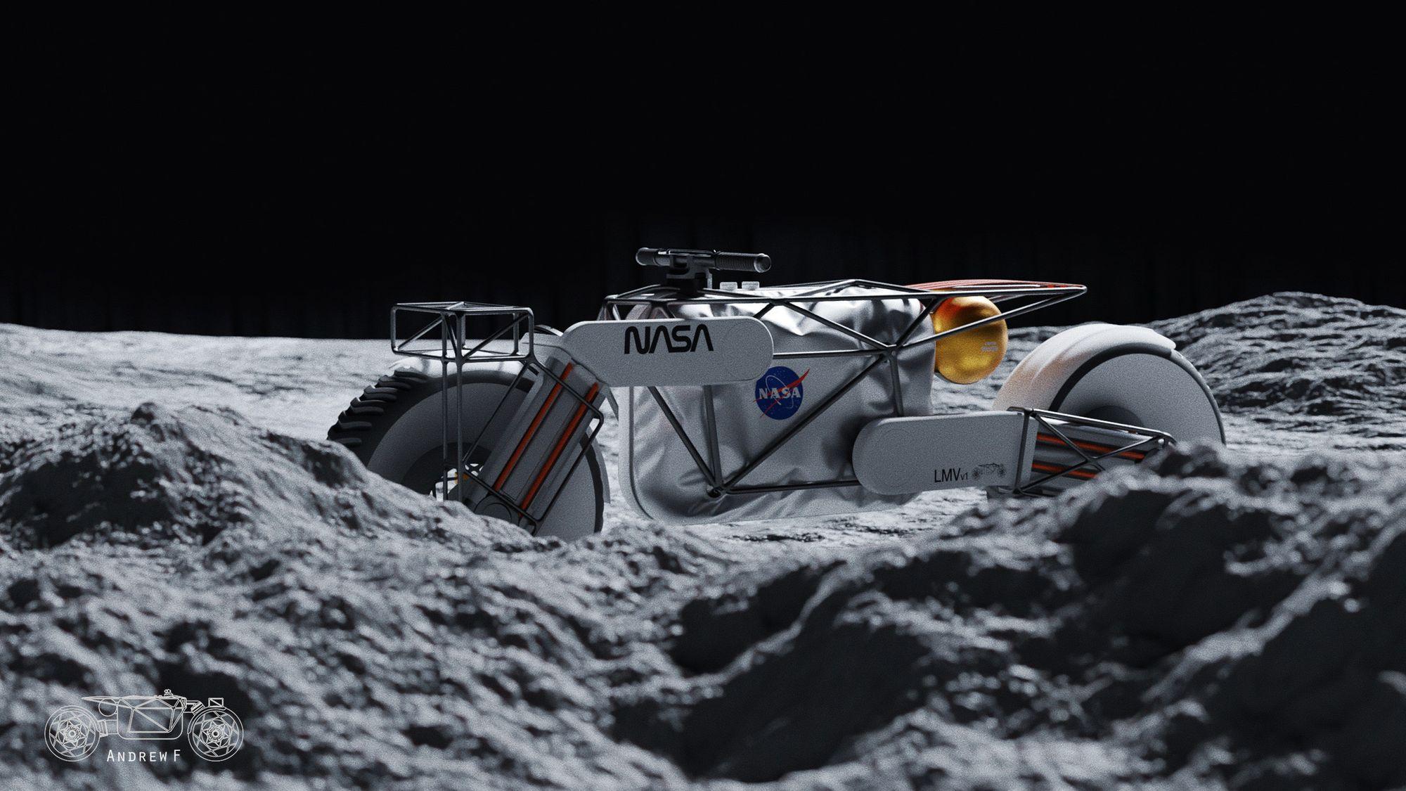Η μοτοσυκλέτα Tardigrade στην επιφάνεια της Σελήνης