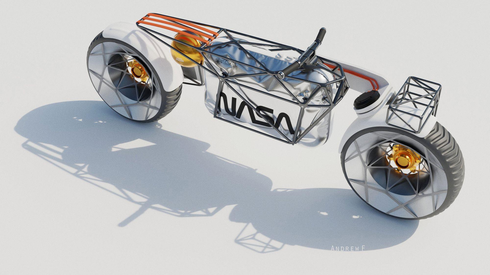 Σχέδιο που απεικονίζει την διαστημική μοτοσυκλέτα