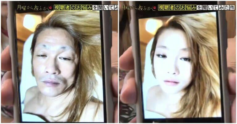 selfie ως Zonngu και selfie ως γυναίκα Yuki