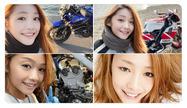 κολάζ με τέσσερις φωτογραφίες του μοτοσυκλετιστή