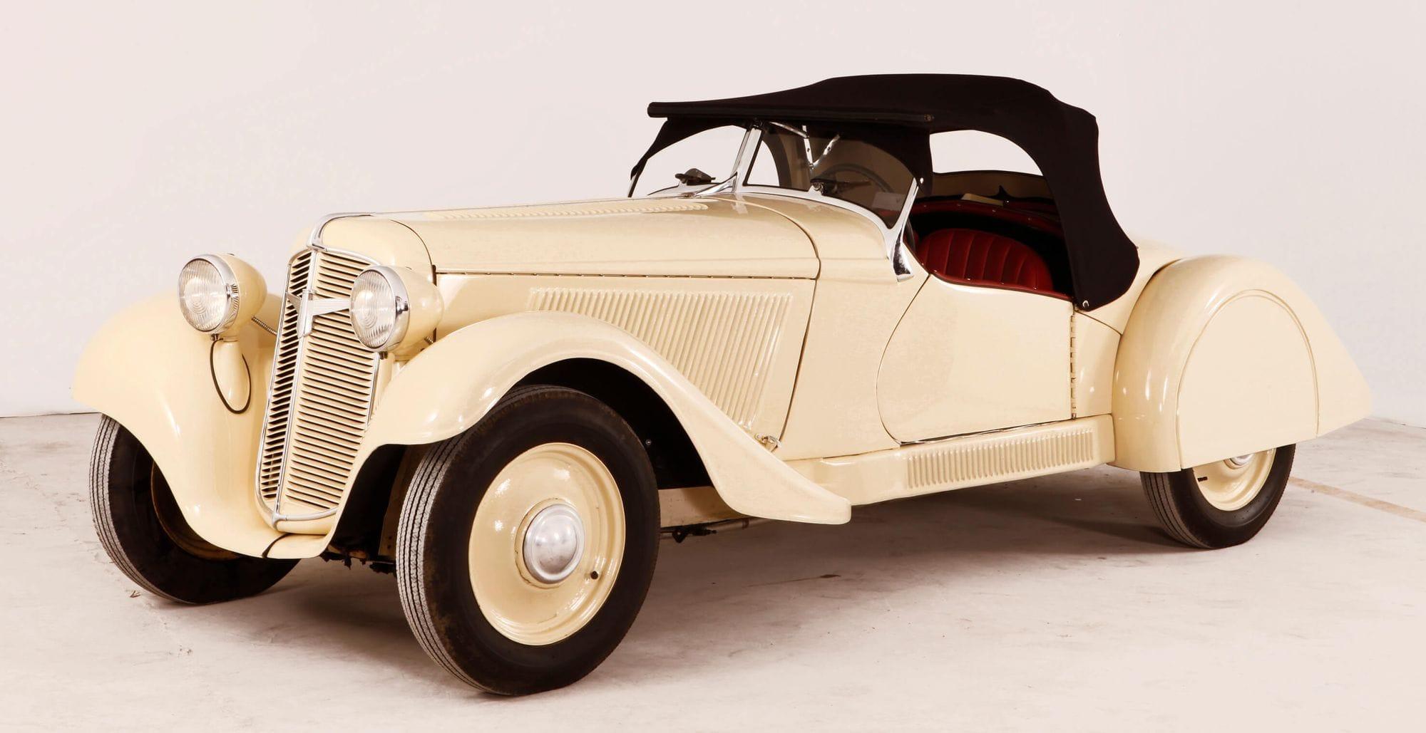 Το μοντέλο Adler Trumpf Junior Sport 30 p.s.που βρίσκεται στο Ελληνικό Μουσείο Αυτοκινήτου