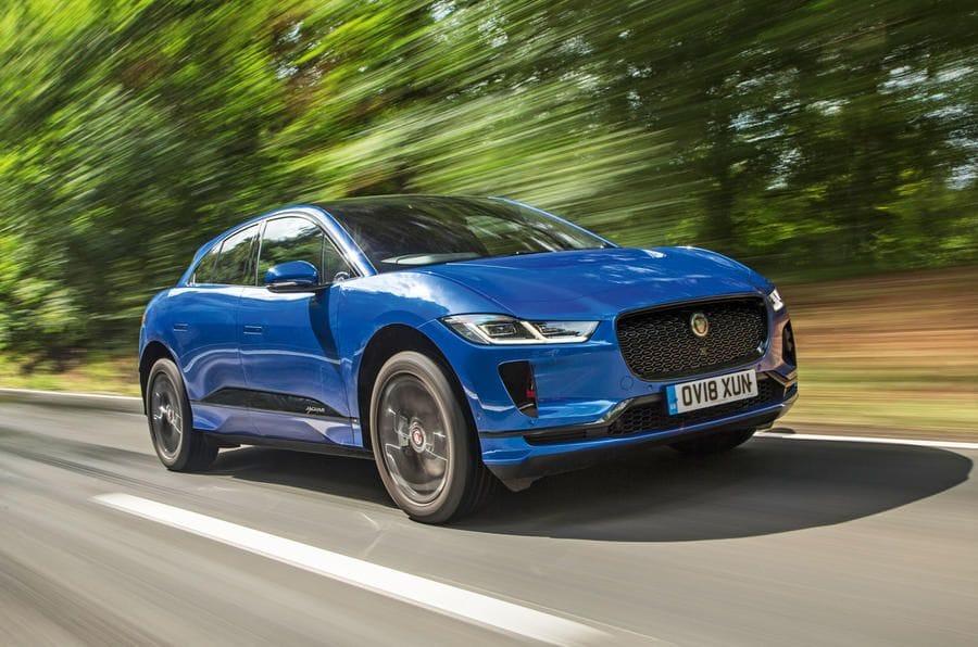 μπλε Jaguar I-Pace